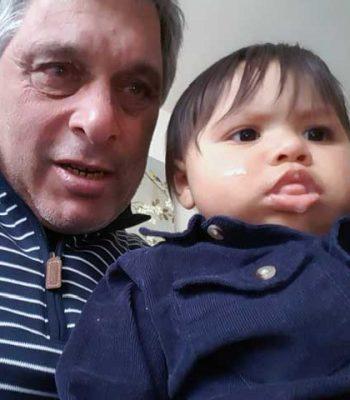 with grandson bg